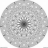 Circle Coloring Pages Pattern Printable Getcolorings Print sketch template