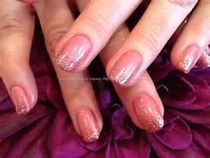 Pink Glitter Natural Nails