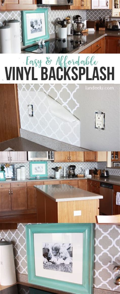 easy vinyl backsplash   kitchen landeelucom
