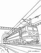 Train Coloring Electric Tunnel Dessin Trains Coloriage Colorear Locomotora Drawing Hellokids Imprimer Electrica Ausmalen Zum Colorare Disegni Books Sheets Colouring sketch template