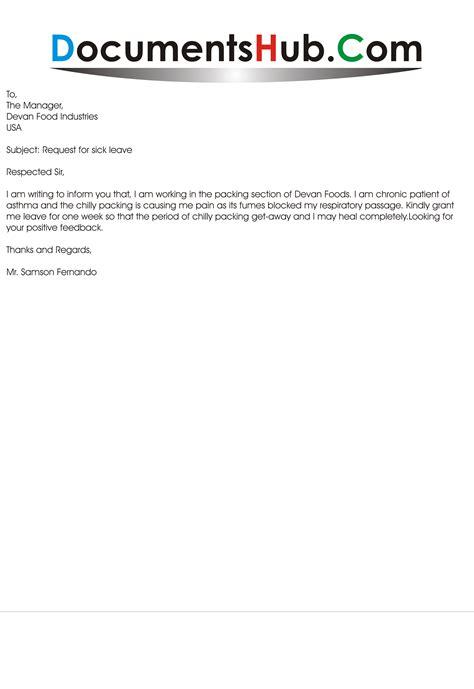sick leave email sample documentshubcom