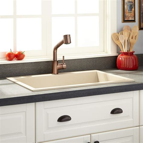 beige kitchen sink 30 quot holcomb drop in granite composite sink beige drop 1574