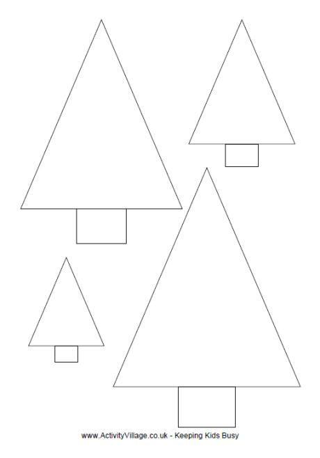 simple christmas tree template to print