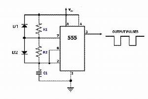 a pulse generator circuit using the 555 timer download With 555 timer pulse generator schematic