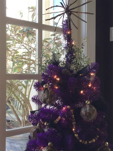 purple decorated christmas trees treetopia design council 2014 presents lizelle green 5322