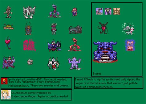 Earthbound Halloween Hack Megalovania by Snes Earthbound Halloween Hack Hack Enemies Amp Bosses