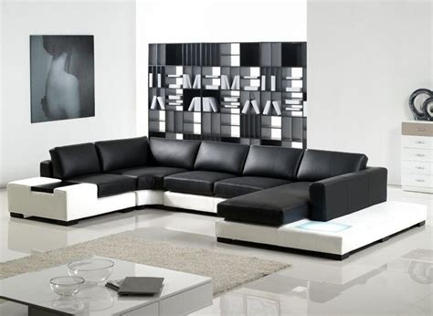 Black Contemporary Sofa by U Shaped Sofa With Bookcase In Livivng Room Black And
