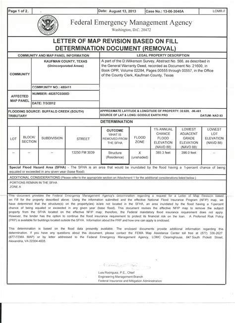 letter of map amendment fema loma flood insurance engineering studies floodplain