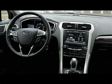 ford fusion hybrid interior review youtube