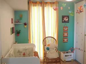 chambre bebe garcon orange With deco chambre de bebe garcon