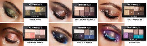 city mini eyeshadow palette eye makeup maybelline