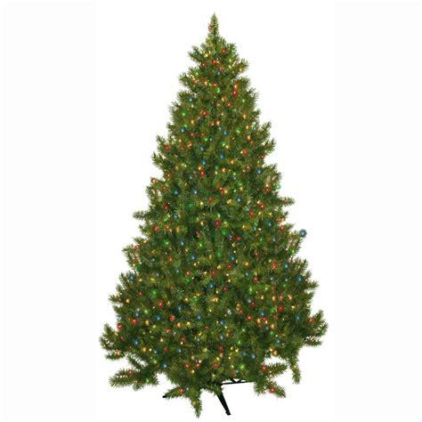 7 5 ft christmas tree with 1000 lights general foam 7 5 ft pre lit carolina fir artificial