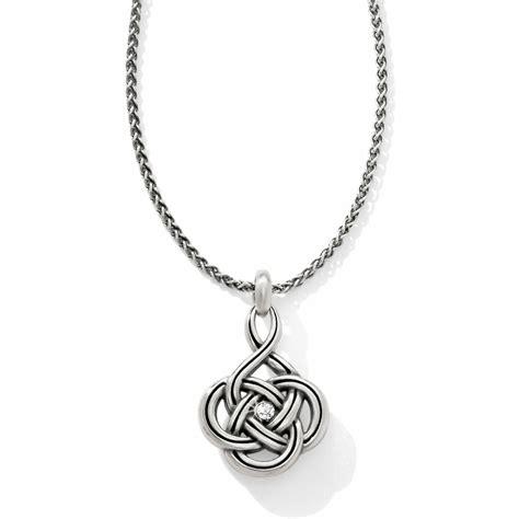 brighton silver interlok petite necklace