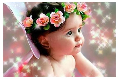 cute baby with rose wallpaper download