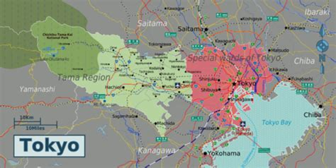 detail tokyo city travel destinations map