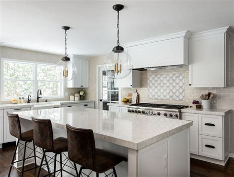 How Thick Is Quartz Countertop by New Fresh White Kitchen Design Home Bunch Interior