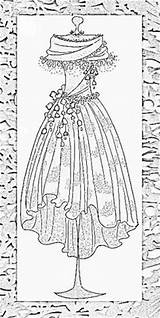 Coloring Adults Printable Dresses Adult Patterns Sheets Stamps Form Mannequins Colouring Corsets Line Awesome Victorian Sheet Paper Corset Lingerie Dover sketch template