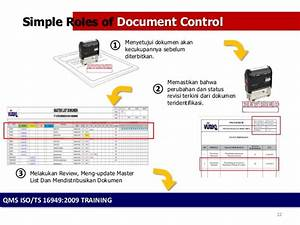 management of document control With document control training online