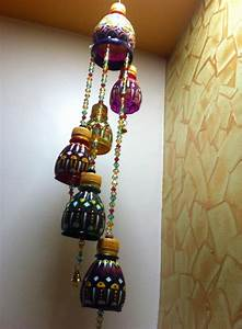 Wind chimes made out of waste plastic bottles | Plastic ...