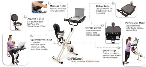 fitdesk 3 0 desk exercise bike with massage bar white fitdesk archives latest fitness reviews fitness