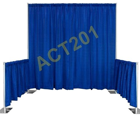 Pipe And Drape Purchase - pipe and drape trade show booth kit with premium drapes