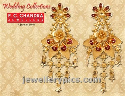 jewellery design pictures pc chandra gold earrings wedding collection