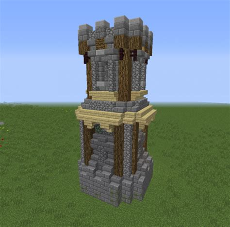 small medieval tower  blueprints  minecraft houses castles towers   grabcraft