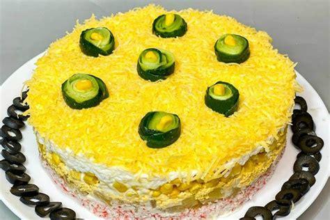 Krabju nūjiņu salāti ar ananāsiem un sieru - Tava Klade