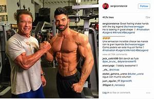 Arnold Schwarzenegger Meeting Sergi Constance's At Gold's Gym