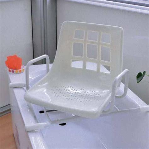 baignoire siege siège de baignoire dakara pivotant accoudoirs blanc