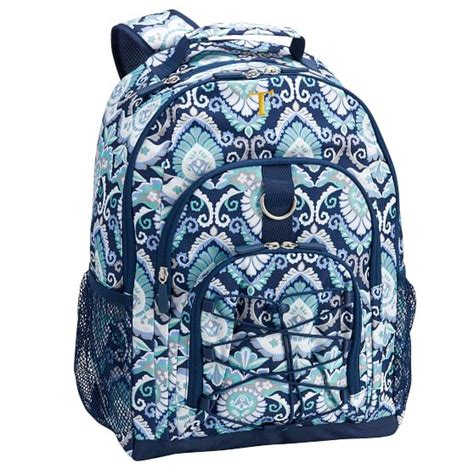 gear up navy deco medallion backpack pbteen