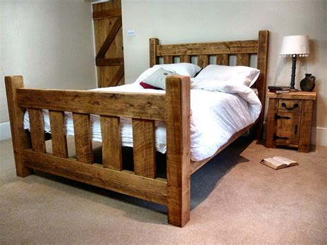 Rustic Pine Slat Bed Frame  Ben Simpson Furniture