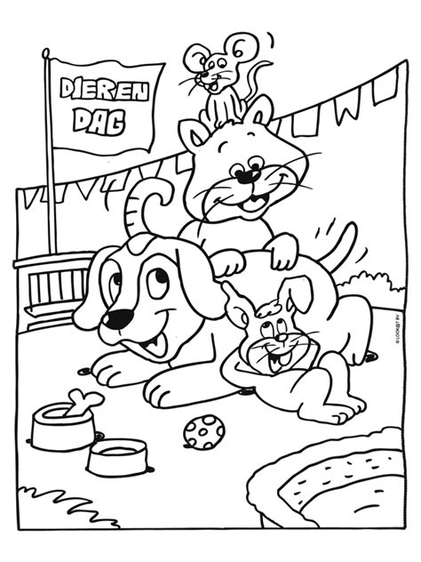 Kleurplaat Paw Patrol A4 by Kleurplaat Dierendag Feest Voor Alle Dieren Kleurplaten Nl
