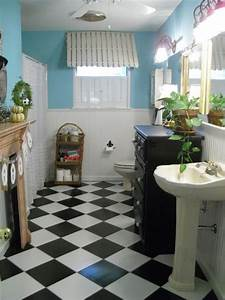 black and white tile bathroom floor black and white With black and white checkered tile bathroom