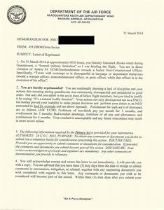 letter of reprimand for bad attitude With air force loc template