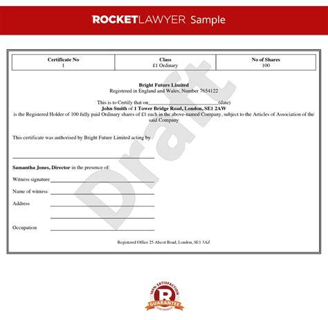 share certificate template stock certificate