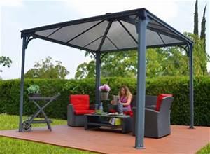 tonnelle couverture terrasse en aluminium 3 x 3 m With comment monter une tonnelle de jardin 4 kiosque de jardin bois