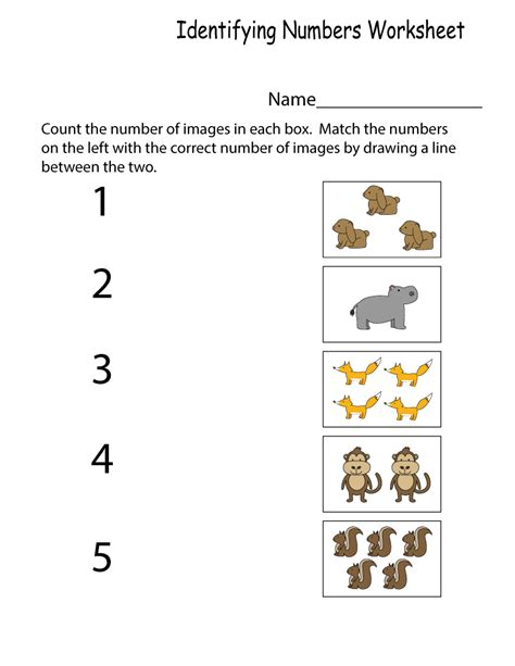 Number Worksheet  Loving Printable