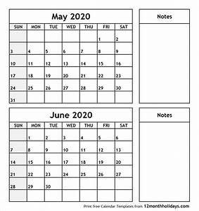 May And June 2020 Calendar August Calendar Calendar
