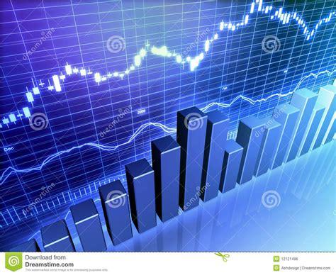Financial Stock Bar Graph stock illustration. Illustration ...