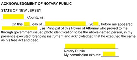 jersey general financial power  attorney form