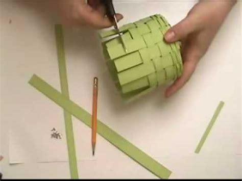 paper basket weaving part  youtube