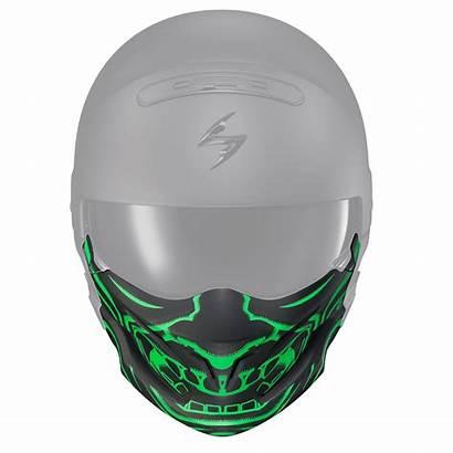 Samurai Mask Face Covert Matte Helmet Open