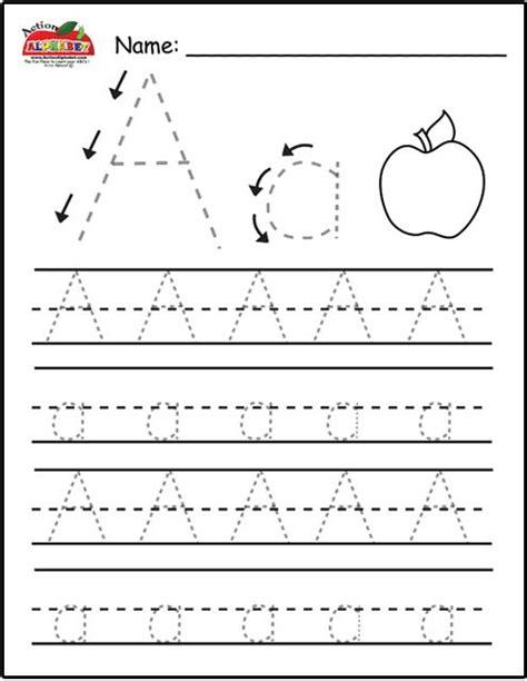 kindergarten worksheets letter tracing