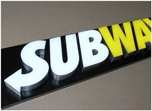 3d lighted signboard channel letters advertising logos led With 3d sign letters wholesale