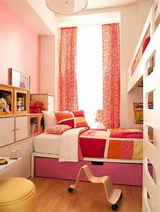 Bright, And, Sunny, Girls, Bedroom, For, Two