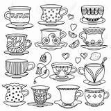 Tea Coloring Cup Kaynak Tr Drawing Cups sketch template