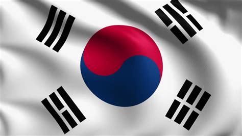 Realistic Beautiful South Korea Flag 4k Stock Footage