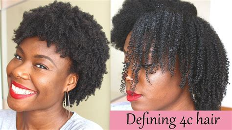 Defined curls on 4c natural hair (using the L O C method