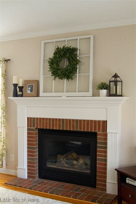 Fireplace Mantel Decor - bits of home everyday fireplace decor
